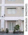 doors outdoor room with a nice... | Shutterstock . vector #346153421