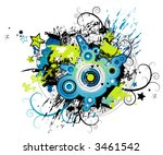 vector background with many...   Shutterstock .eps vector #3461542