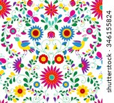 colorful and ornate ethnic... | Shutterstock .eps vector #346155824