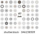 set of ornament round mandalas... | Shutterstock .eps vector #346158509