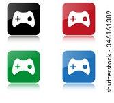 joystick    color vector icon ...