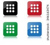 menu    color vector icon  with ...