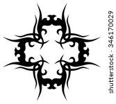tattoo. pattern. design.... | Shutterstock .eps vector #346170029