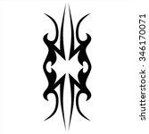 tribal tattoo vector design... | Shutterstock .eps vector #346170071