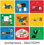 business online  social media ... | Shutterstock .eps vector #346170299