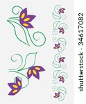 floral ornaments   Shutterstock .eps vector #34617082