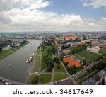 Panoramic View Of Krakow City...