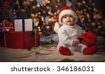 little smiling boy  baby  in a... | Shutterstock . vector #346186031