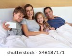 happy perfect family taking... | Shutterstock . vector #346187171