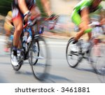 pan blur of bicycle road race. | Shutterstock . vector #3461881