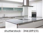 luxurious modern kitchen with... | Shutterstock . vector #346189151