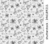 vector seamless floral pattern... | Shutterstock .eps vector #346189211