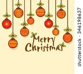 creative merry christmas... | Shutterstock .eps vector #346198637