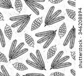 Cone Seamless Pattern. Vector...