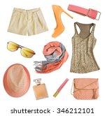 soft colors female apparel.... | Shutterstock . vector #346212101