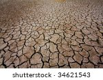 cracked earth   concept image...   Shutterstock . vector #34621543