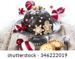 Christmas Pudding On Silver...