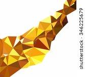 yellow polygonal mosaic... | Shutterstock .eps vector #346225679
