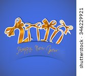 vector illustration of new year ... | Shutterstock .eps vector #346229921
