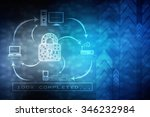 security concept  lock on... | Shutterstock . vector #346232984