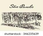 sao paolo skyline  vector... | Shutterstock .eps vector #346235639