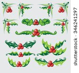 holly berry icon. christmas... | Shutterstock .eps vector #346241297
