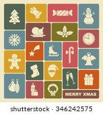 christmas icons | Shutterstock .eps vector #346242575