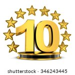 top 10 of the year  done in 3d    Shutterstock . vector #346243445