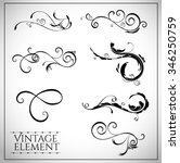 collection of page dividers and ... | Shutterstock .eps vector #346250759