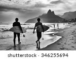 Scenic Black And White View Of...