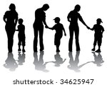 vector image of mother and son. ... | Shutterstock .eps vector #34625947