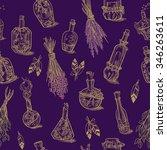 seamless of different bottles...   Shutterstock .eps vector #346263611