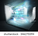 concept of antivirus with... | Shutterstock . vector #346270394