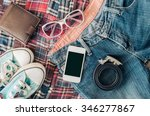 accessories and apparel for men ... | Shutterstock . vector #346277867