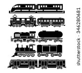 train  sky train  subway icons | Shutterstock . vector #346280681