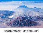 bromo  batok and semeru... | Shutterstock . vector #346283384