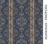 seamless victorian wallpaper   Shutterstock .eps vector #346291361