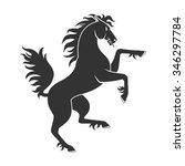 black rearing up horse for...   Shutterstock .eps vector #346297784