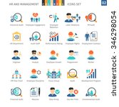 human resources and management... | Shutterstock .eps vector #346298054