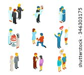 relationship and wedding people ... | Shutterstock . vector #346303175