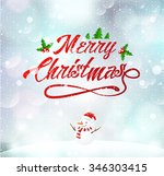 merry christmas  happy new year ... | Shutterstock .eps vector #346303415