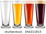 Beer Glass In Four Color...