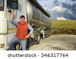 truck driver | Shutterstock . vector #346317764