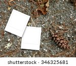 two square instant photo frames ... | Shutterstock . vector #346325681