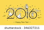 illustration for the new year... | Shutterstock .eps vector #346327211
