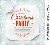 christmas party poster template ... | Shutterstock .eps vector #346327919