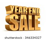 3d render of year end sale word ... | Shutterstock . vector #346334327