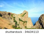 the view on karadag  reserve on ... | Shutterstock . vector #34634113