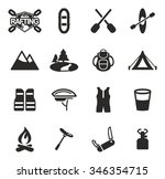 rafting icons  | Shutterstock .eps vector #346354715