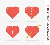 heart icons set in vector | Shutterstock .eps vector #346354871